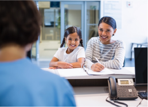 Patient reception and admission managed by a special team of experts.